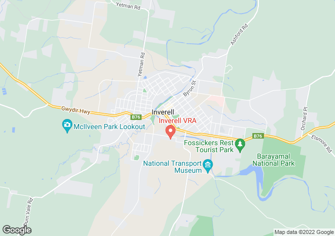 Map for 6 Brewery Street, INVERELL 2360