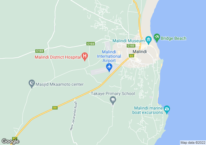 Map for Marine Park Road, Malindi, Kenya
