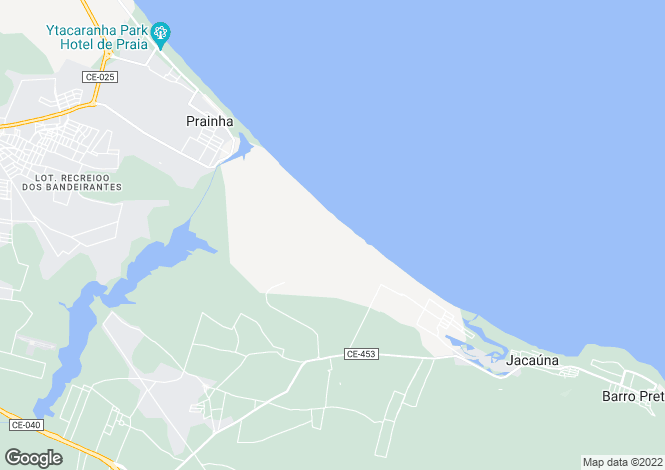 Map for Aquiraz, Ceará