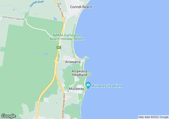 Map for 42 Headland Road, ARRAWARRA HEADLAND 2456