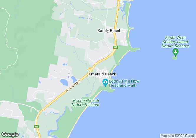 Map for 60 Dammerel Crescent, EMERALD BEACH 2456