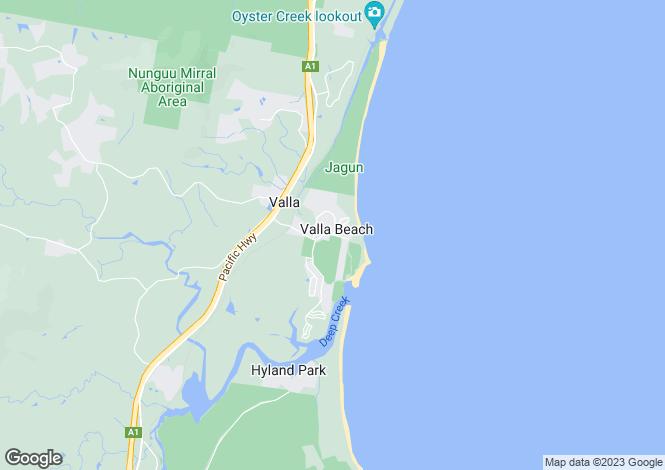 Map for Lot 200 Swordfish Drive, VALLA BEACH 2448