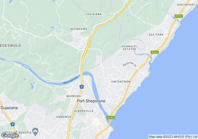 Map for 10 Royston Lane, Umtentweni, KwaZulu-Natal