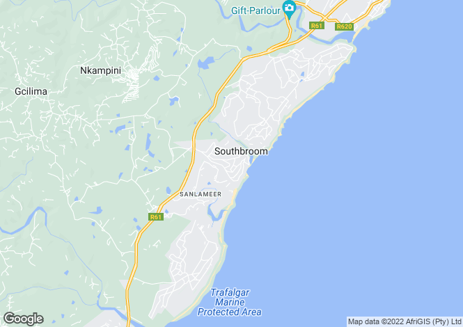 Map for Southbroom, KwaZulu-Natal