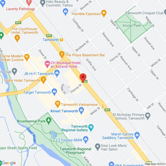 Avis Car & Truck Rental (Tamworth) Location Map