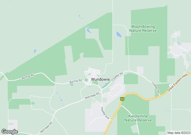 Map for 21 Wattle Crescent, WUNDOWIE 6560