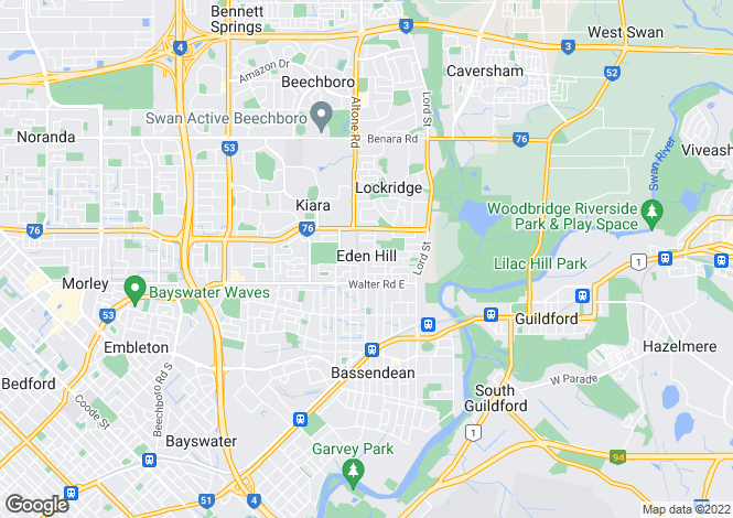 Map for 45 Lord St, EDEN HILL 6054
