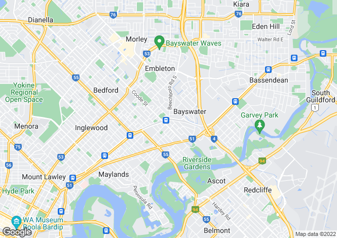 Map for 114/81 King William Street, BAYSWATER 6053