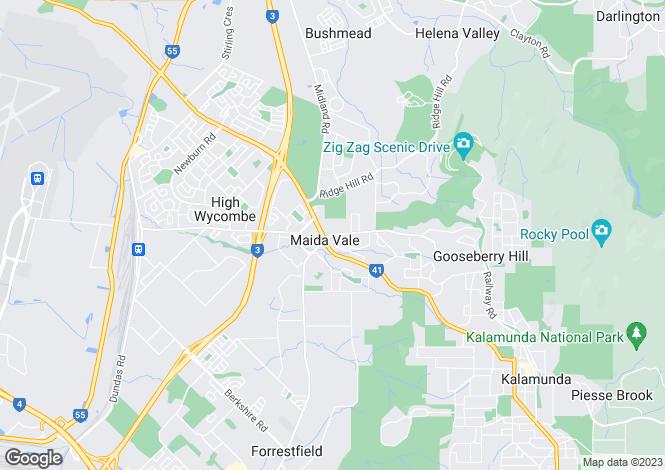 Map for 64 Maida Vale Road, MAIDA VALE 6057