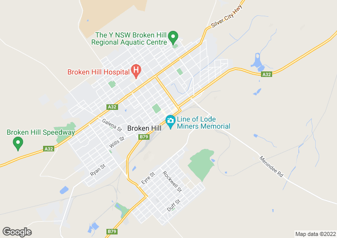 Map for 77 Creedon Street, BROKEN HILL 2880