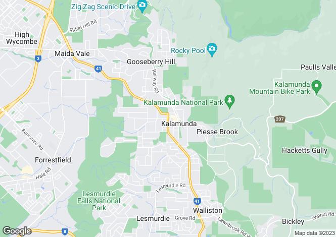 Map for 14 Swindells Lane, KALAMUNDA 6076