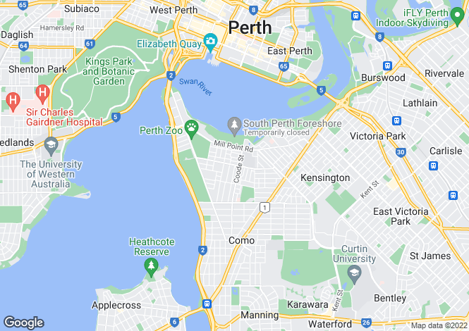 Map for 6A York Street, SOUTH PERTH 6151