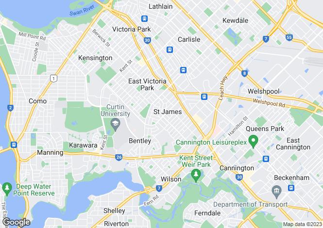Map for 7B Wyndham Street, ST JAMES 6102