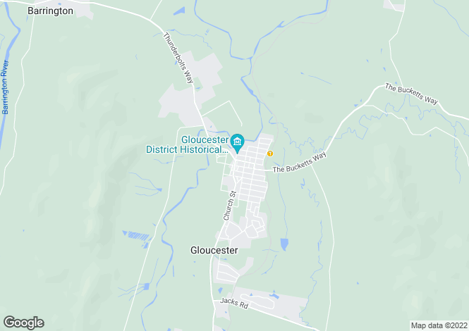 Map for Tugwood Wines , GLOUCESTER 2422