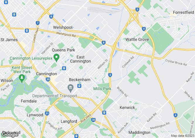 Map for 18 Dulwich Street, BECKENHAM 6107