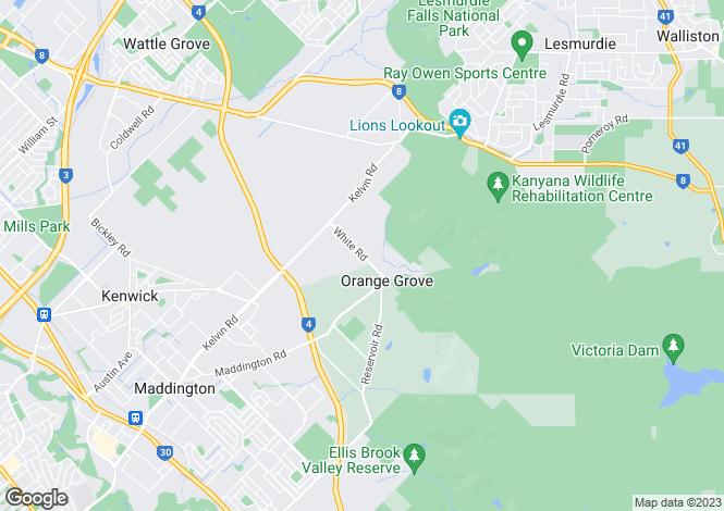 Map for 100 Reservoir Road, ORANGE GROVE 6109