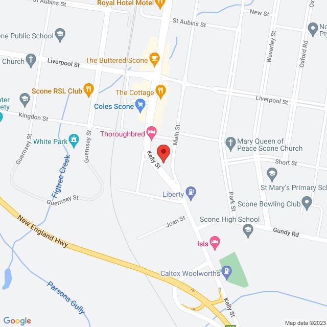 Scone Location Map