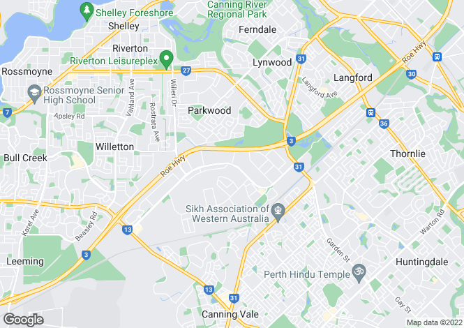 Map for 49 Cromarty Garden, CANNING VALE 6155