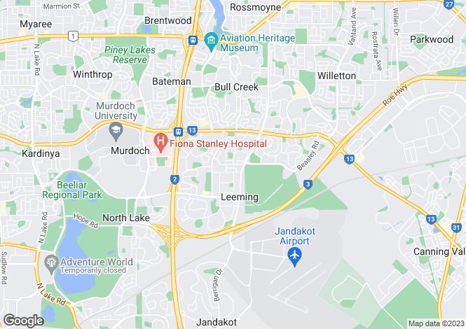 Map for 9B Dundee Street, LEEMING 6149