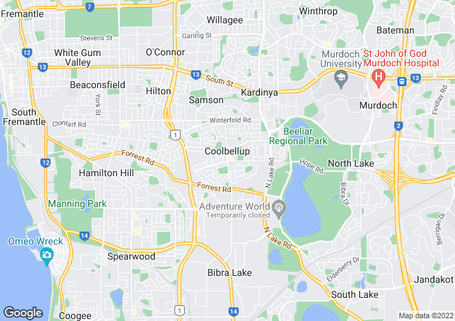 Map for 9/15 Friar John Way, COOLBELLUP 6163