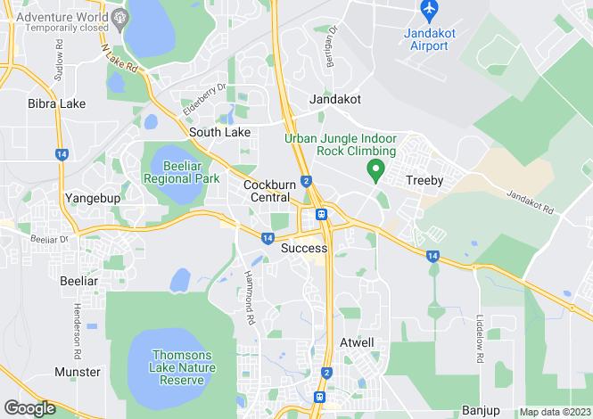Map for 5 Coolum Mews, JANDAKOT 6164