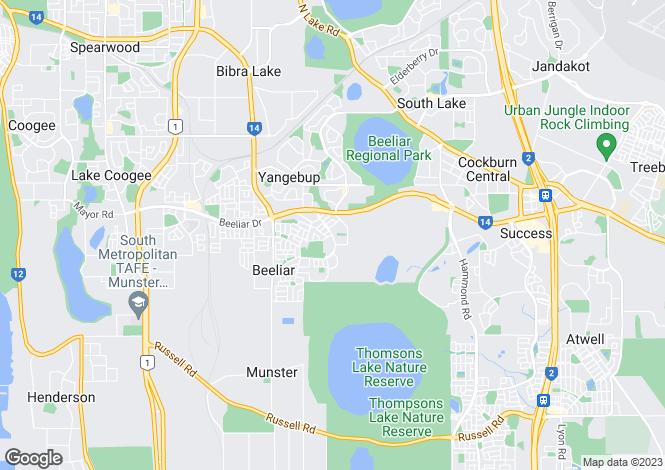 Map for 91 East Churchill Avenue, BEELIAR 6164