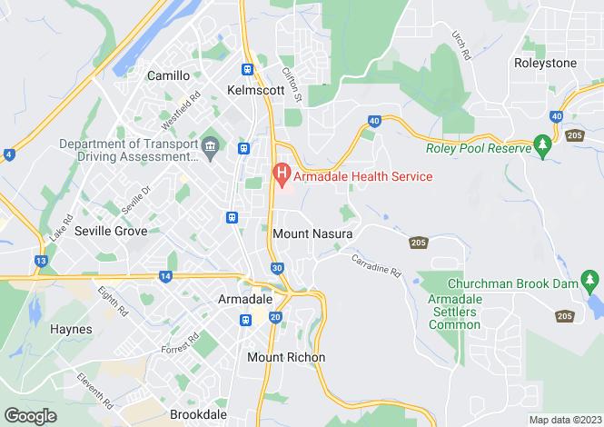 Map for 22 Derry Avenue, MOUNT NASURA 6112