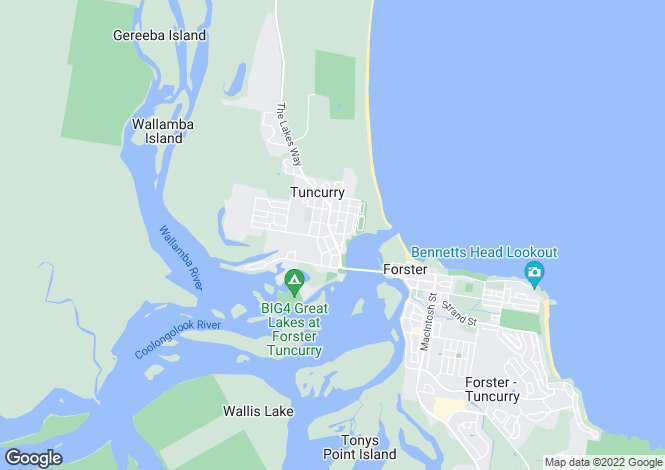 Map for 15 Manning Street, Tuncurry 2428
