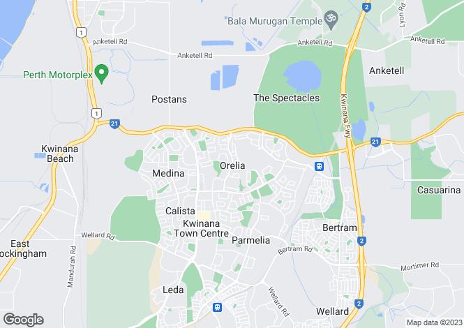 Map for 17 Hennessy Avenue, ORELIA 6167