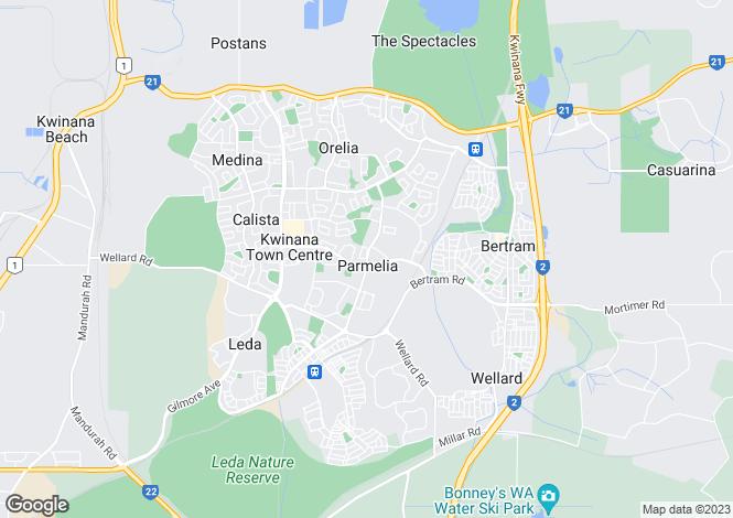 Map for 57 Sicklemore Road, PARMELIA 6167