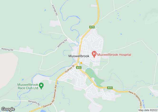 Map for MUSWELLBROOK 2333