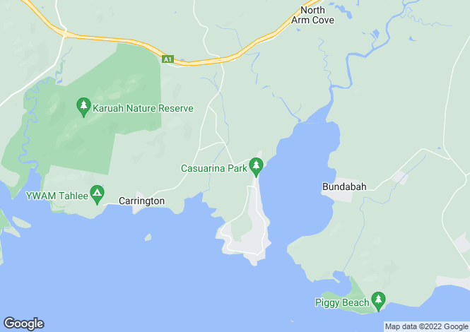 Map for 18 Flannery Street, NORTH ARM COVE 2324