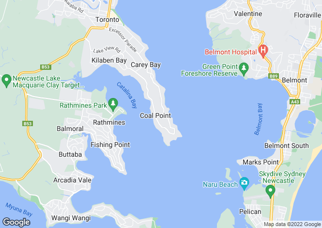 Map for 13 Killara Close, Coal Point 2283