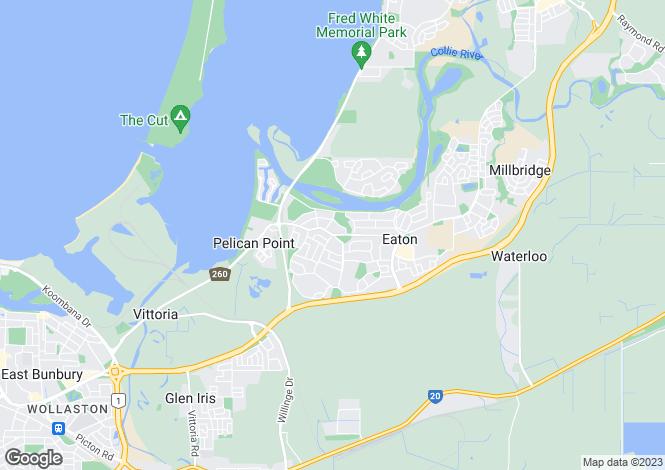 Map for 21 Waratah Terrace, EATON 6232