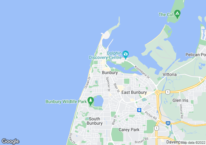Map for 1 Merilup Heights, BUNBURY 6230