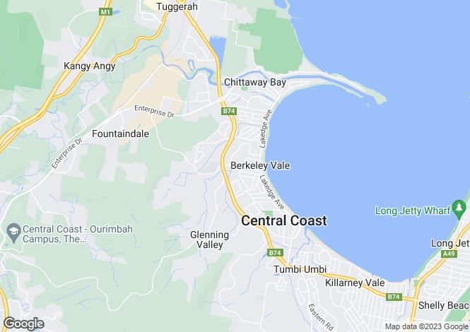 Map for 5 Corella Close, BERKELEY VALE 2261