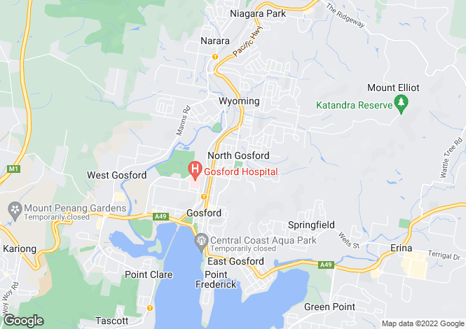 Map for 101/226 Gertrude Street, North Gosford 2250