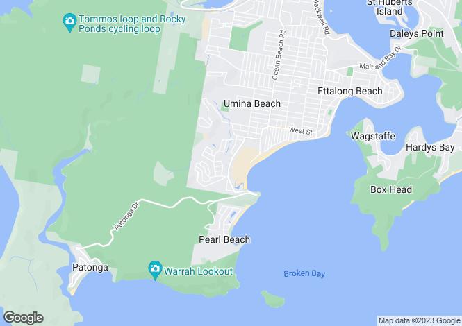 Map for 186 West Street, UMINA BEACH 2257