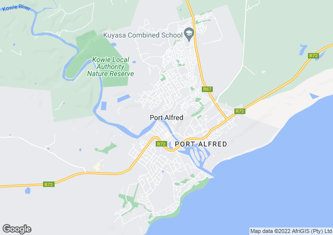 Map for 8 Miles Bowker Drive, Royal Alfred Estate, Port Alfred, Eastern Cape