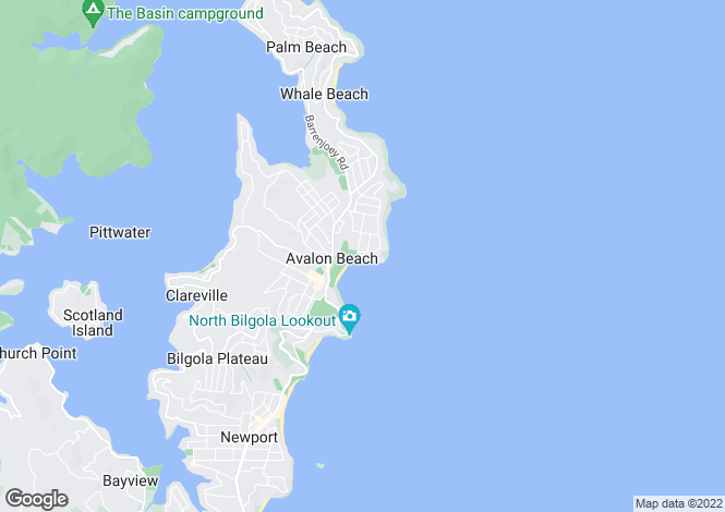 Map for New South Wales, Avalon Beach