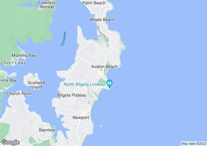 Map for 28 Capua Place, Avalon Beach 2107