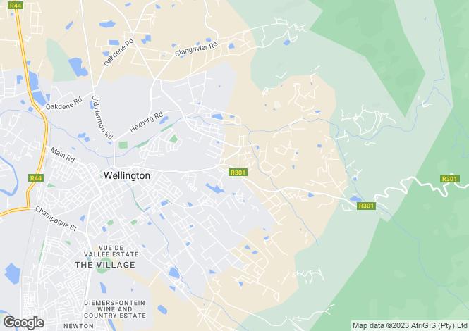 Map for Grande Arvore, Wellington, Bainskloof Rd, Wellington, 765