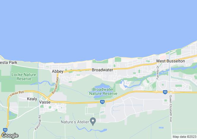 Map for 81 Beachfields Drive, BROADWATER 6280