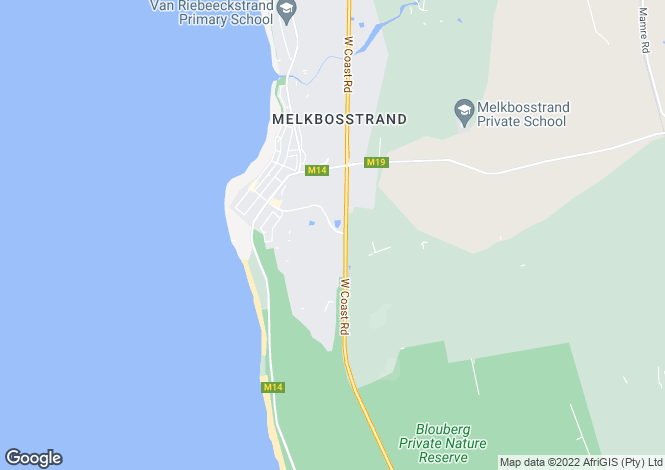 Map for 4 Eel Grass Way, Atlantic Beach Estate, Melkbosstrand, Western Cape