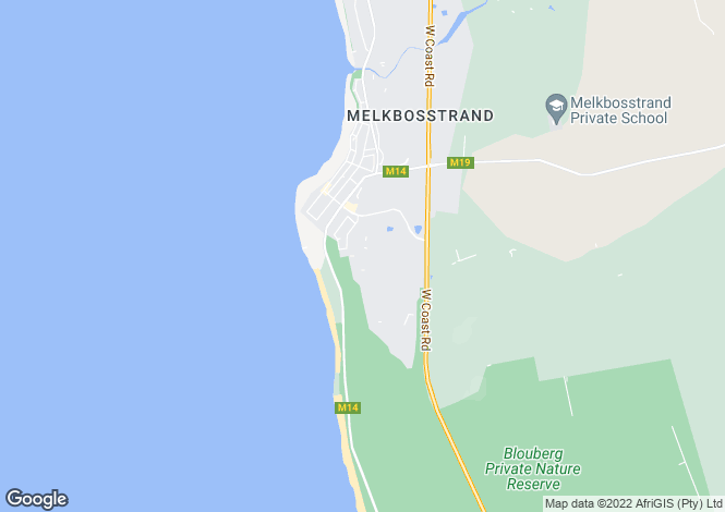 Map for Sea Hare Circle, Atlantic Beach Estate, Melkbosstrand, Western Cape