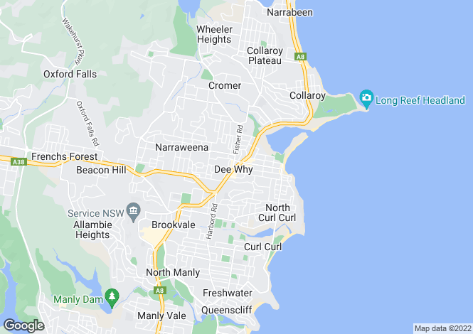 Map for Woodfire Pizzeria , Dee Why