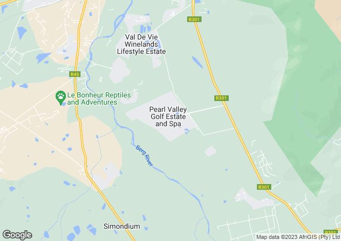 Map for Franschhoek, Western Cape