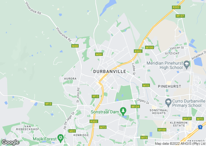 Map for De Keur, Durbanville, Western Cape