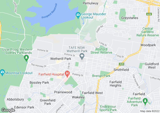 Map for WETHERILL PARK 2164