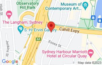 Map of Shangri-La Hotel, 176 Cumberland Street, Sydney NSW 2000
